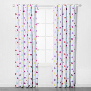 Pillowfort Polka Dot Curtain Pair 63x42